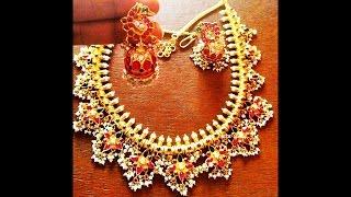 Download 120 Light Weight Gold Guttapusalu Necklace Designs Video
