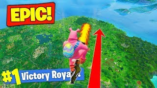 Download Rocket Riding To *MAX HEIGHT* In Fortnite Battle Royale! Video