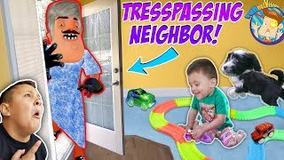 Download OUR NEIGHBOR BROKE INTO OUR HOUSE! Trespassing Problems + Puppy Takes Shawns Toy |FUNnel Vision Vlog Video