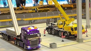 Download GREAT RC MODEL SCALE CRANE TADANO FAUN IN ACTION!! *RC HEAVY LOAD TRUCK SCANIA Video