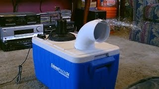 Download Homemade air conditioner DIY - Awesome Air Cooler! - EASY Instructions - can be solar powered! Video
