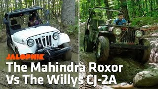 Download Off-Road Comparison: Mahindra Roxor Vs. 1948 Willys CJ-2A Jeep Video