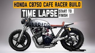 Download Honda CB750 Cafe Racer 'WARRIOR' Build Time Lapse Video