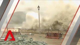 Download Typhoon Mangkhut hits Hong Kong Video