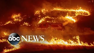 Download Delta fire grows and burns out of control, shuts down major highway Video