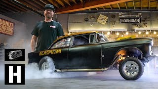 Download Roadkill's Mike Finnegan Brings Blasphemi to the Donut Garage, Flexes 900whp With a Massive Burnout Video