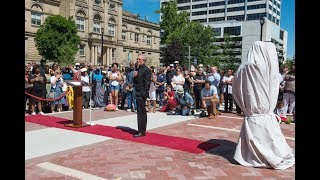 Download Fr. Jenkins speaks at Hesburgh-MLK statue unveiling Video