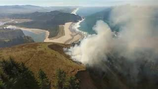Download Controlled burn scorches 30 acres of meadow at Cascade Head Video