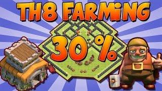 Download Aldea de Farming th8 30% + REPLAYS | ESCUDO GRATIS | Best th8 Farming Base 30% | Video