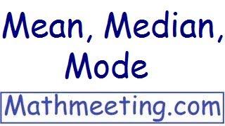 Download Statistics - Mean, Median, Mode Video