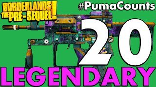 Download Top 20 Best Legendary Guns and Weapons in Borderlands: The Pre-Sequel! #PumaCounts Video