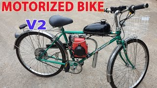 Download Build a Motorized Bike at home - v2 - Using 4-Stroke 49cc Engine - Tutorial Video