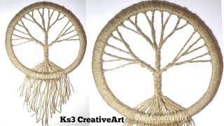 Download DIY Vintage tree Dream Catcher  room decoration ideas   Jute Craft   easy craft Video