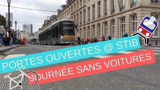 Download Journée sans voiture à Bruxelles et journée portes ouvertes à la STIB #Stibdate Video