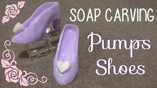 Download SOAP CARVING | Pumps With Heart Decorations | How to carve | Video
