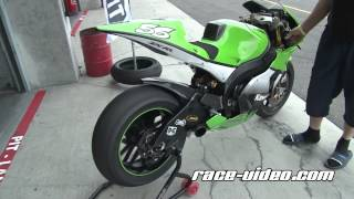 Download moto GP Kawasaki soundcheck warmup Video
