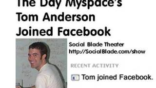 Download The Day Myspace's Tom Anderson Joined Facebook (Social Blade Theater) Video