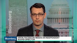 Download Zuckerberg Should Step Aside as Chairman of Facebook, Trillium's Kron Says Video