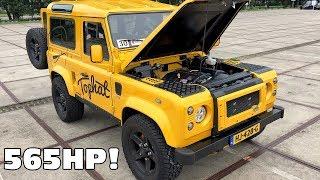 Download Tophat Defender 90 w/ Corvette 6.2 V8 LS3 Engine Exhaust Sounds! Video