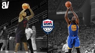 Download Demarcus Cousins Impersonates Draymond Greens Jumper | Team USA Makes Fun Of Each Others Shots Video