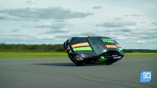 Download Watch This Man Set The World Speed Record While Driving His Car On Two Wheels! Video