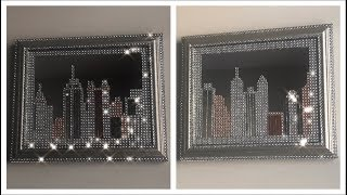 Download DIY DOLLAR TREE BLING MIRROR SKYLINE JUNE 2018 Video