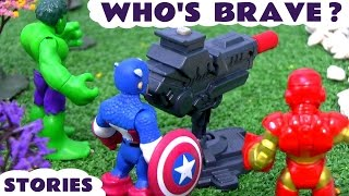 Download Superheroes Spiderman and Avengers Hulk Captain America Iron Man Who's Brave Toys Stories TT4U Video