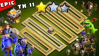 Download EPIC TH11 War Base 2018 Anti 2 Star With Replay Anti Bowler Anti Miner Anti Everything PROOF! Video