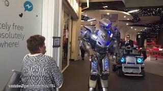 Download Titan the real life size robot | picks a fight with a lady Video