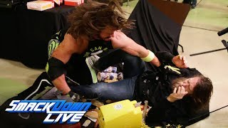 Download AJ Styles drives Daniel Bryan through a concessions table: SmackDown LIVE, Jan. 15, 2019 Video