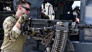 Download USAF Helicopter Crew Preps For Combat Rescue Mission Video