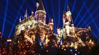 Download NEW ″Nighttime Lights at Hogwarts Castle″ Harry Potter projection show, Universal Studios Hollywood Video