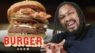 Download Marshawn Lynch Goes Beast Mode on a $1200 Burger in Las Vegas | The Burger Show Video