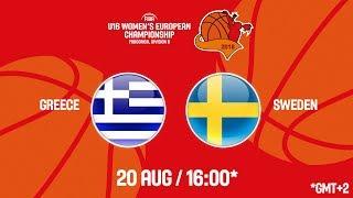 Download LIVE 🔴 - Greece v Sweden - FIBA U16 Women's European Championship Division B 2018 Video