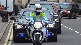 Download President Barack Obama in London (2016) - Motorcade escorts and Aircraft Video