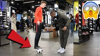 Download CRAZY PUBLIC NUTMEGS IN JD SPORTS !? (FOOTBALL CHALLENGE) Video