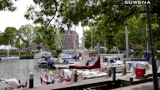 Download Sailing in North Holland Canals and Towns Video