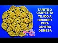 Download Tapete o carpetita tejido a crochet para centro de mesa Video