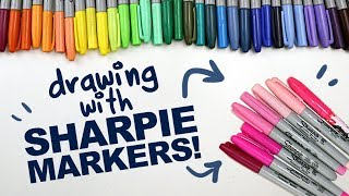 Download MAKING ART WITH SHARPIE MARKERS!   Sharpies   Designing Colorful Fairy Characters   Drawing Process Video