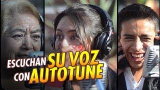 Download Escuchan su VOZ por Primera vez con AUTOTUNE y así Reaccionan | Cantas Bien o Mal | 100 % Real Video