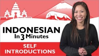 Download Learn Indonesian - Indonesian in Three Minutes - How to Introduce Yourself in Indonesian Video