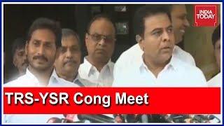 Download Jagan Mohan Reddy - KT Rama Rao Joint Press Meet; TRS -YSR Congress Alliance In The Making ? Video
