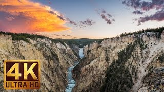 Download 4K Waterfall Nature Scenery with Music and Nature Sounds - WATERFALLS OF YELLOWSTONE - Trailer 37 Video