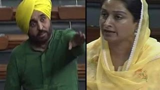 Download Bhagwant Mann Vs Harsimrat kaur Badal Video