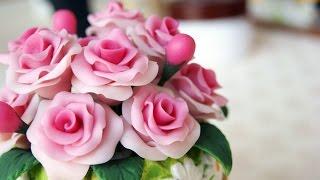 Download DIY Roses Vase maize dough - ENG Series Video