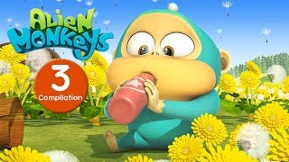 Download Funny Animated Cartoon - Alien Monkeys - Episodes 21-30 - Cartoons For Children Video
