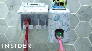 Download Toothpaste Dispenser Helps Kids Brush Teeth Video