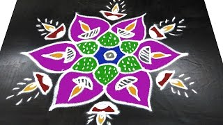 Download #188 - Rangavalli for Festival | 5 to 3 Interlaced Dots | Easy Rangoli Designs with Kolam Design Video