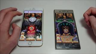 Download Sony Xperia XZ Premium vs Apple iPhone 7 Plus Speed Test! Video