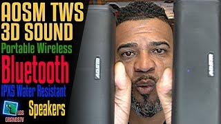 Download AOSM Portable TWS2 Wireless Speakers with Dual 6W 🔊 ⚡ 🔊 : LGTV Review Video